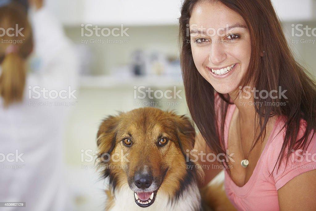 I love my dog! stock photo