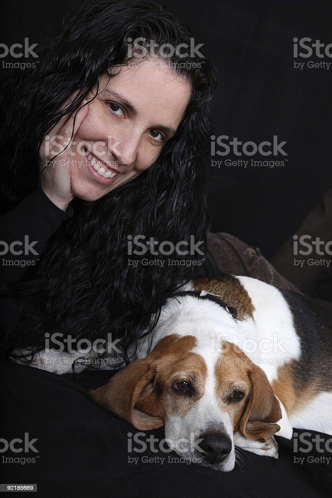 Love My Dog (Beagle) stock photo