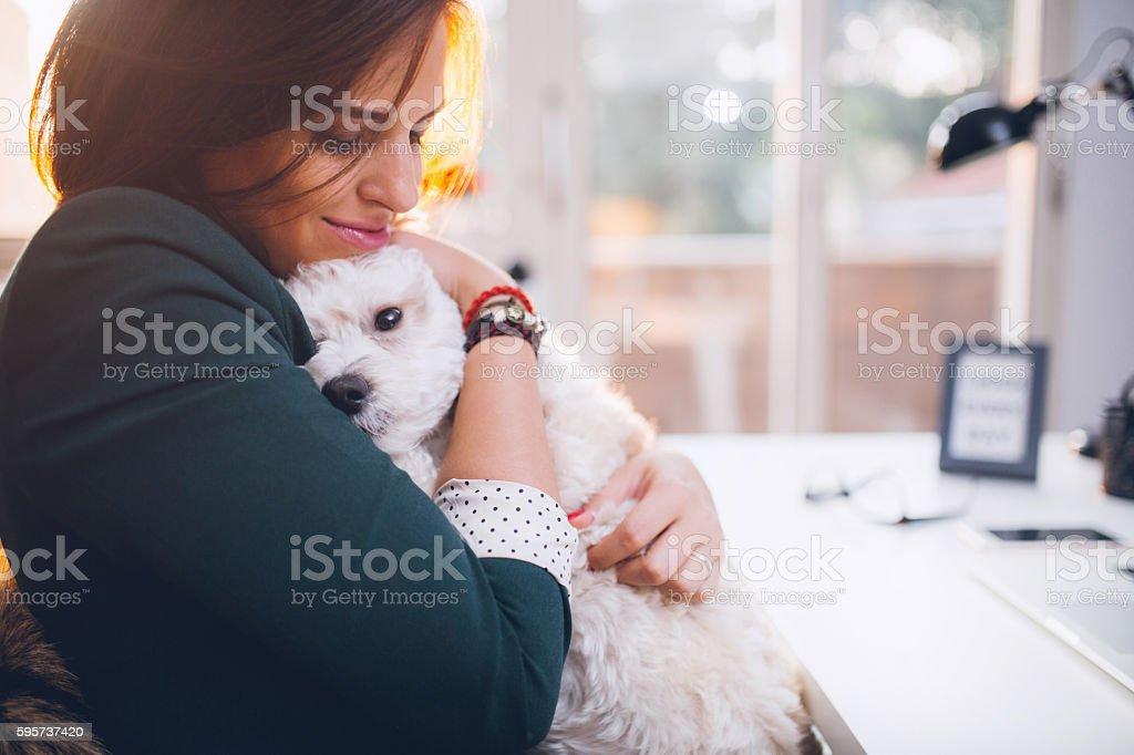 Love my dog soo much! stock photo