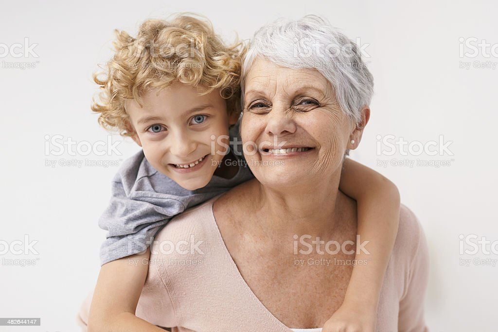 I love my gran! stock photo