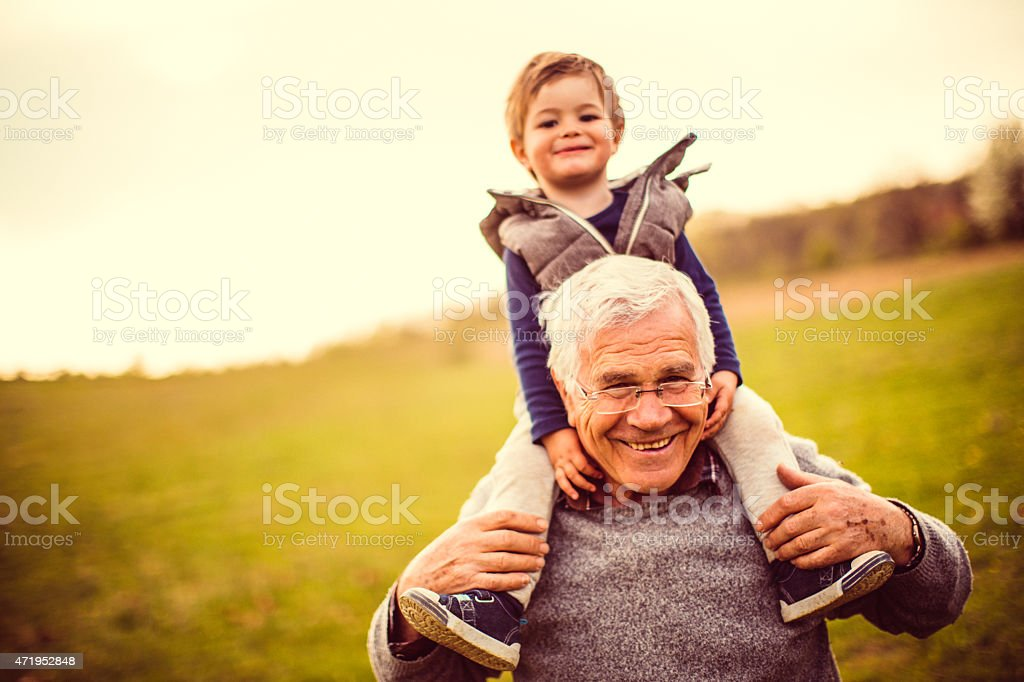 I love my grandpa stock photo