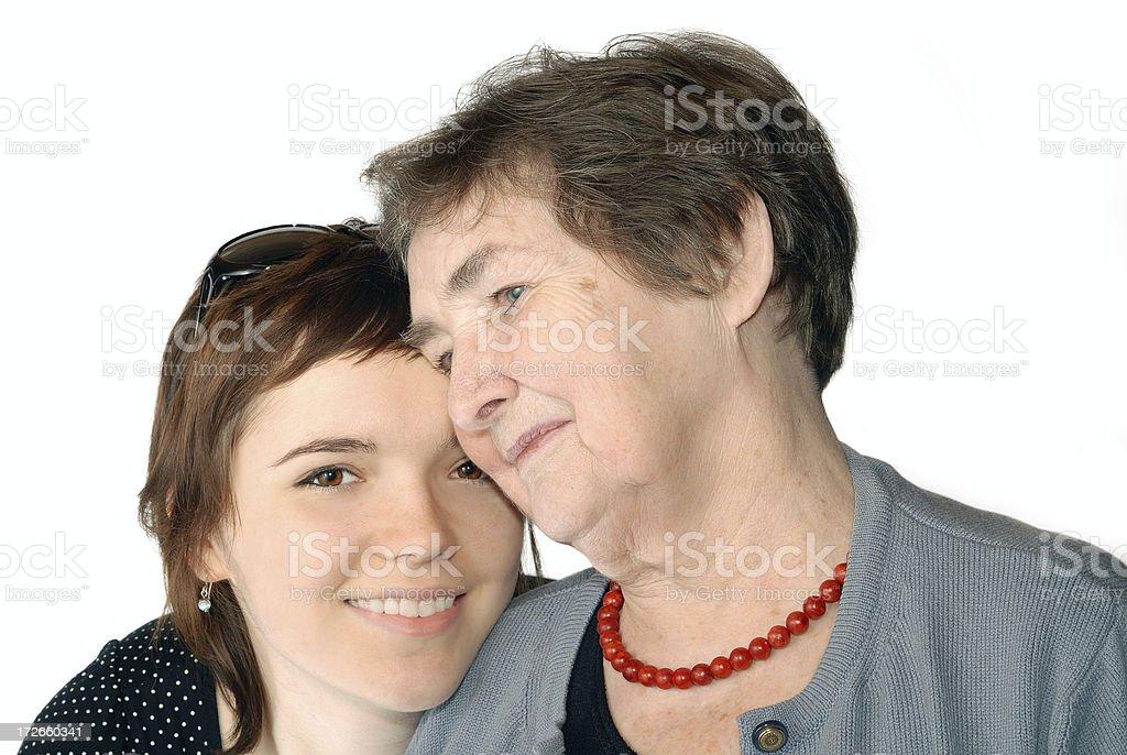 I love my granny. royalty-free stock photo