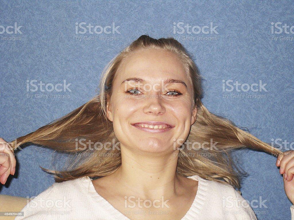 I Love My Hair! royalty-free stock photo