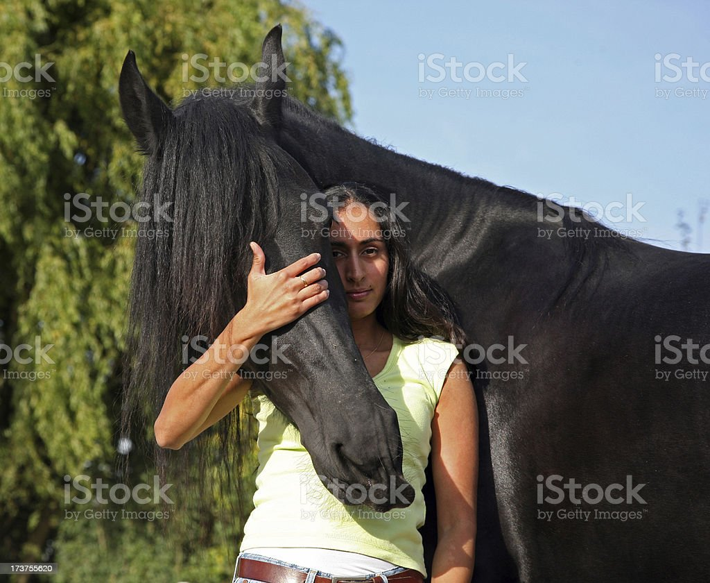 I love my horse royalty-free stock photo