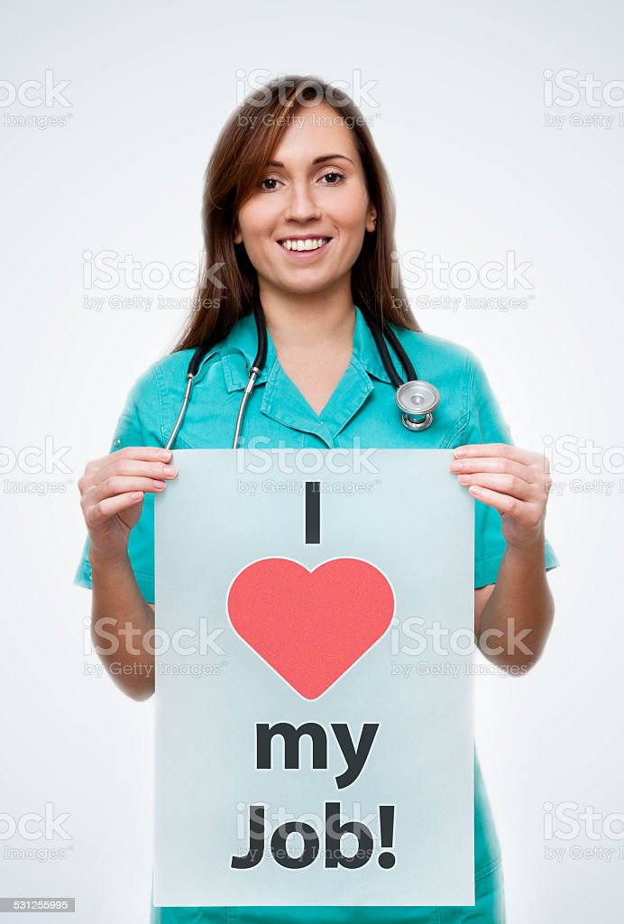 I love my job / medicinel concept (Click for more) stock photo