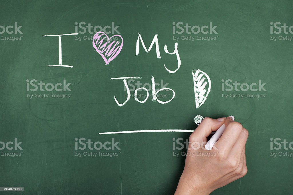 Love My Job stock photo