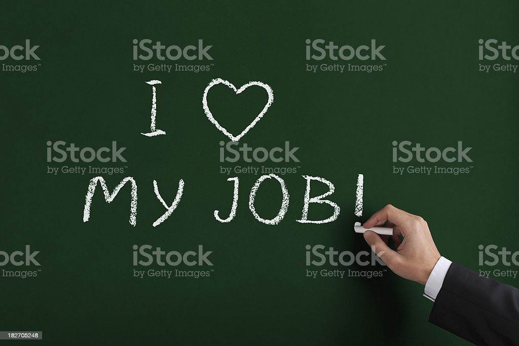 Love My Job XL royalty-free stock photo