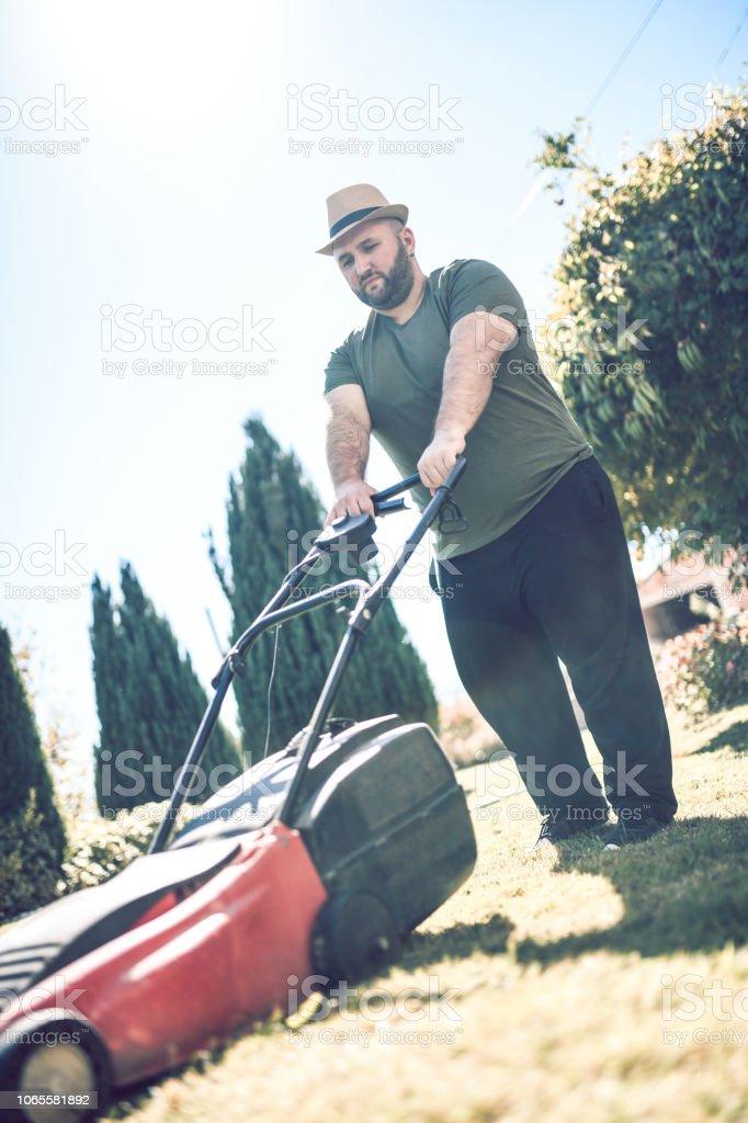 I Love My Lawn stock photo