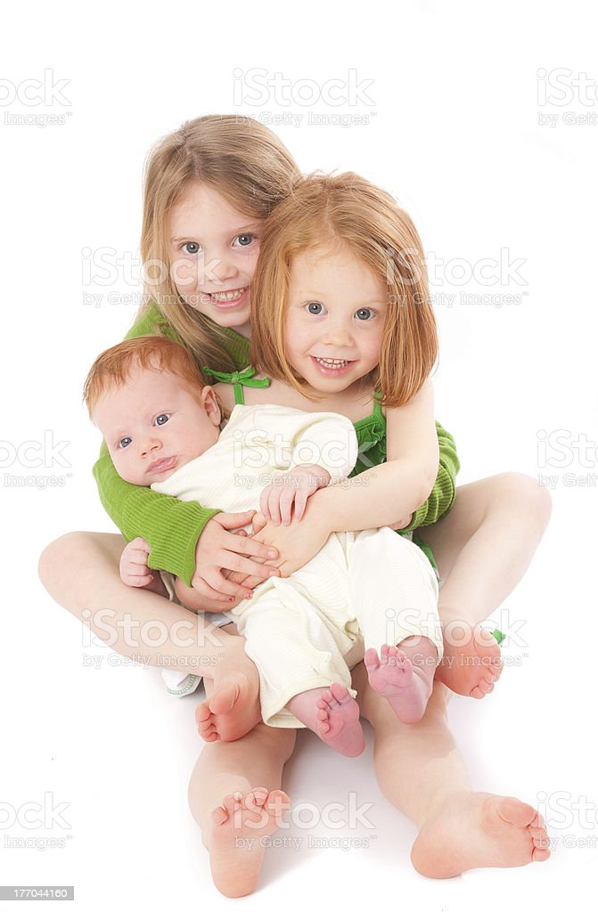 I Love My Little Sister and Brother royalty-free stock photo