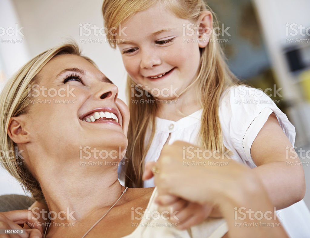 I love my mom so much! royalty-free stock photo