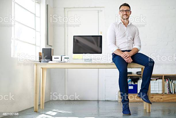 Ich Liebe Mein Neues Büro Stockfoto und mehr Bilder von Männer