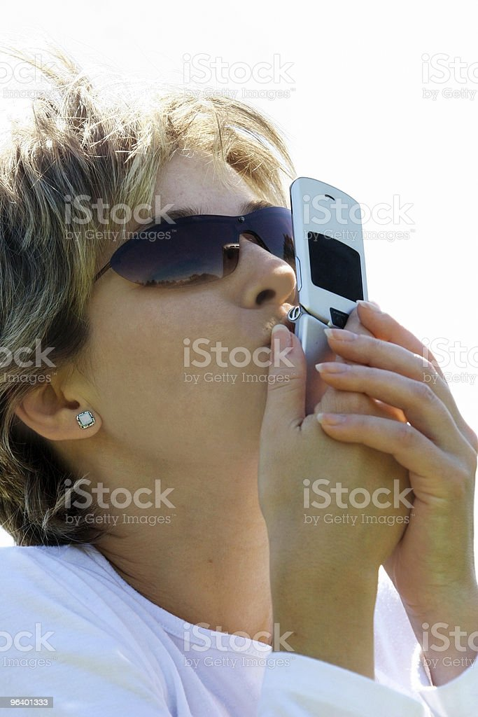 Love my phone! - Royalty-free Adult Stock Photo