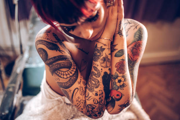 I love my tattoos - foto stock