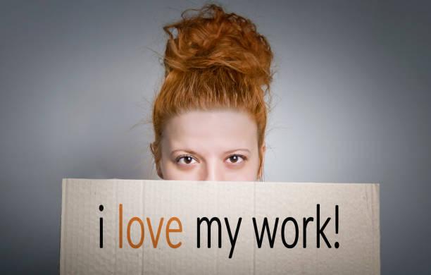 """j """"adore mon travail! - satisfaction photos et images de collection"""