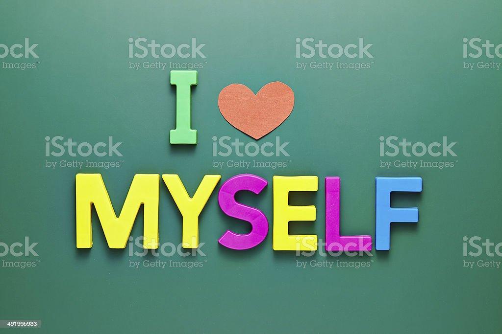 I Love Myself Phrase On Blackboard Stock Photo - Download ...