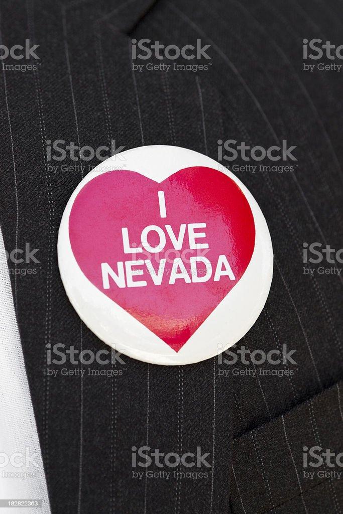 I love Nevada button royalty-free stock photo