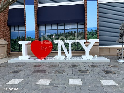 New York City, USA - April 11, 2019: I love New York Sign