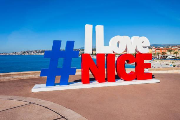 I Love Nice sign, France stock photo