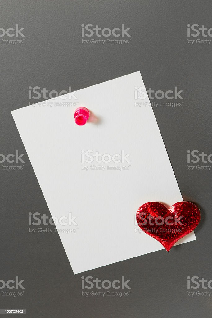 Love Note on Memo Board royalty-free stock photo