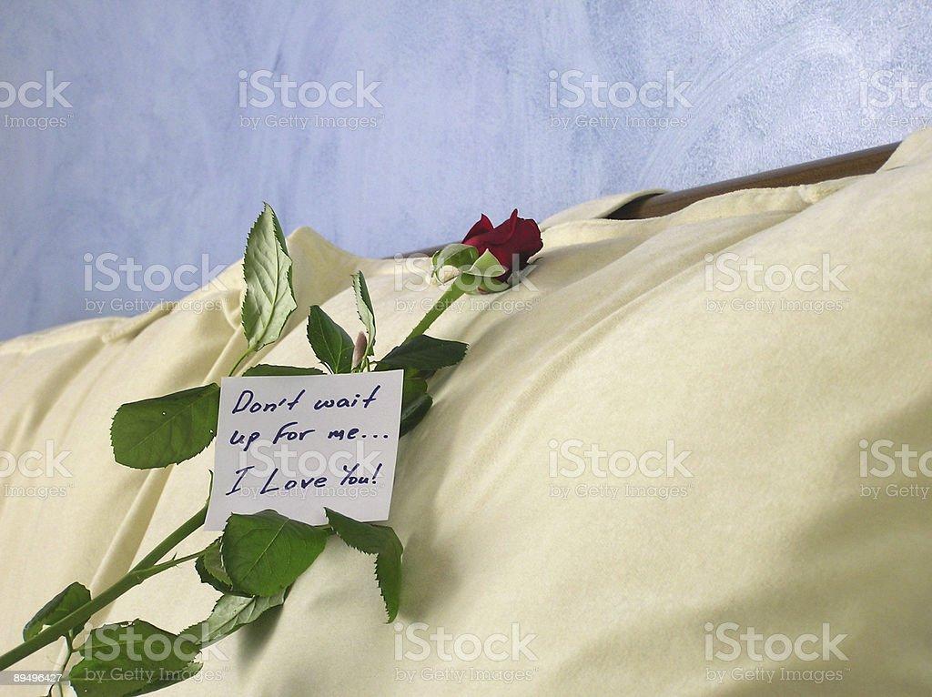 love note royaltyfri bildbanksbilder