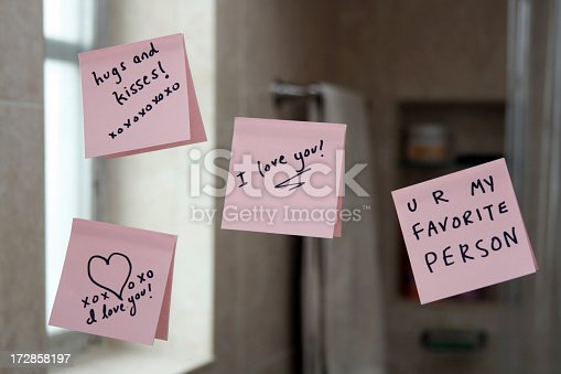 Love notes on the bathroom mirrorPlease see my similar photos: