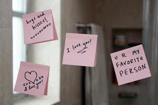 Love notes on the bathroom mirrorPlease see my similar photos: