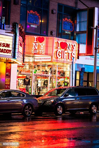 458128003 istock photo I love NY Gifts 42nd street Times square 466748606