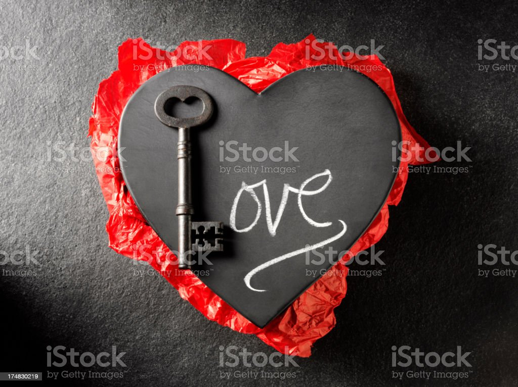 Love of a Metal Heart royalty-free stock photo