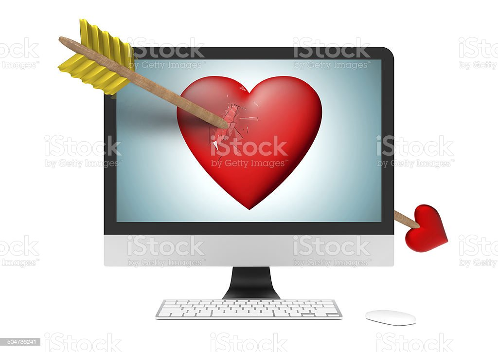 Love of computer stock photo