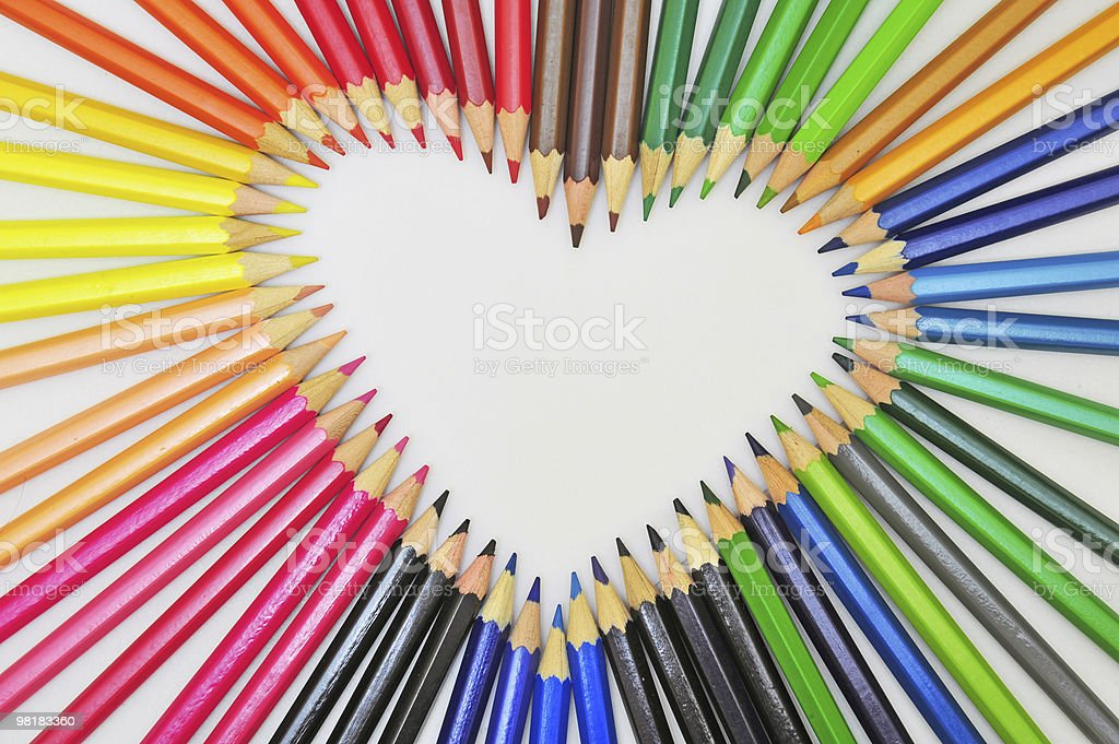 love of pencils royalty-free stock photo