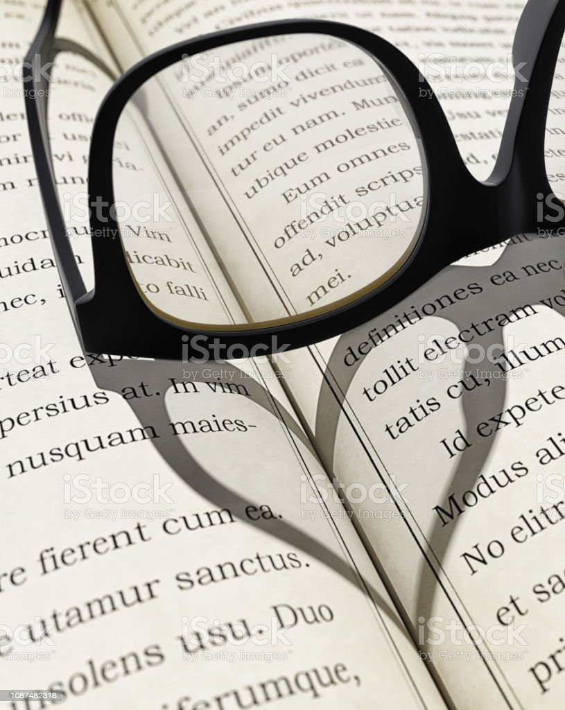 Love of reading and education concept stock photo