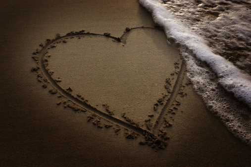 Love On Sand Stock Photo - Download Image Now