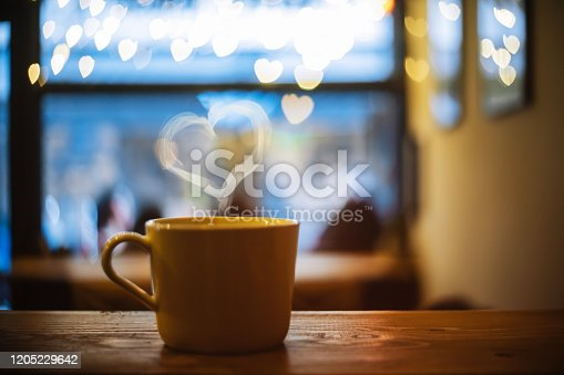 Love on the cup of coffee
