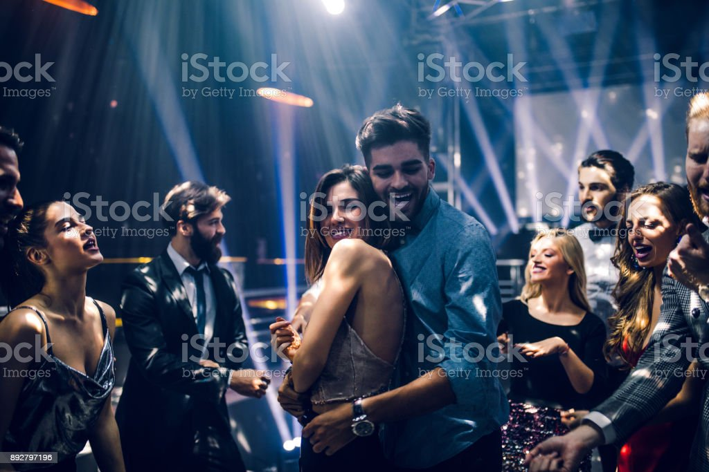 Love on the dance floor royalty-free stock photo