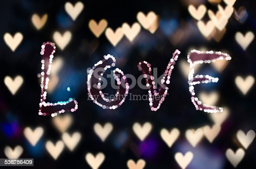 908708148 istock photo Love on the heart bokeh - Valentine Card 536286409