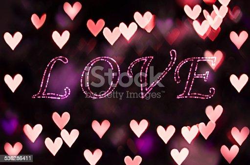 908708148 istock photo Love on the heart bokeh - Valentine Card 536286411