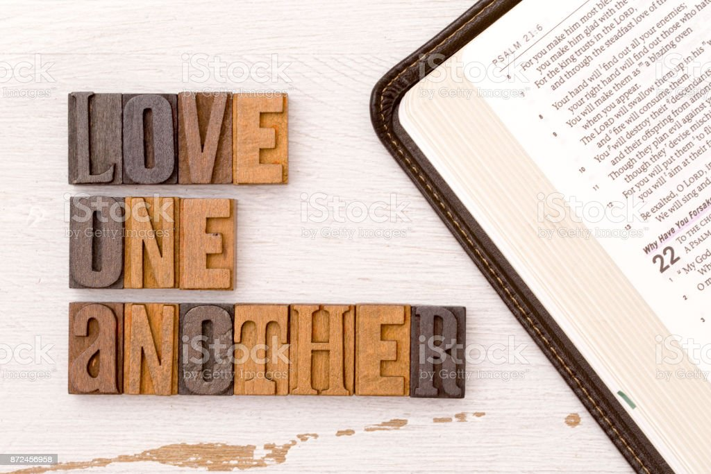 Love One Another stock photo