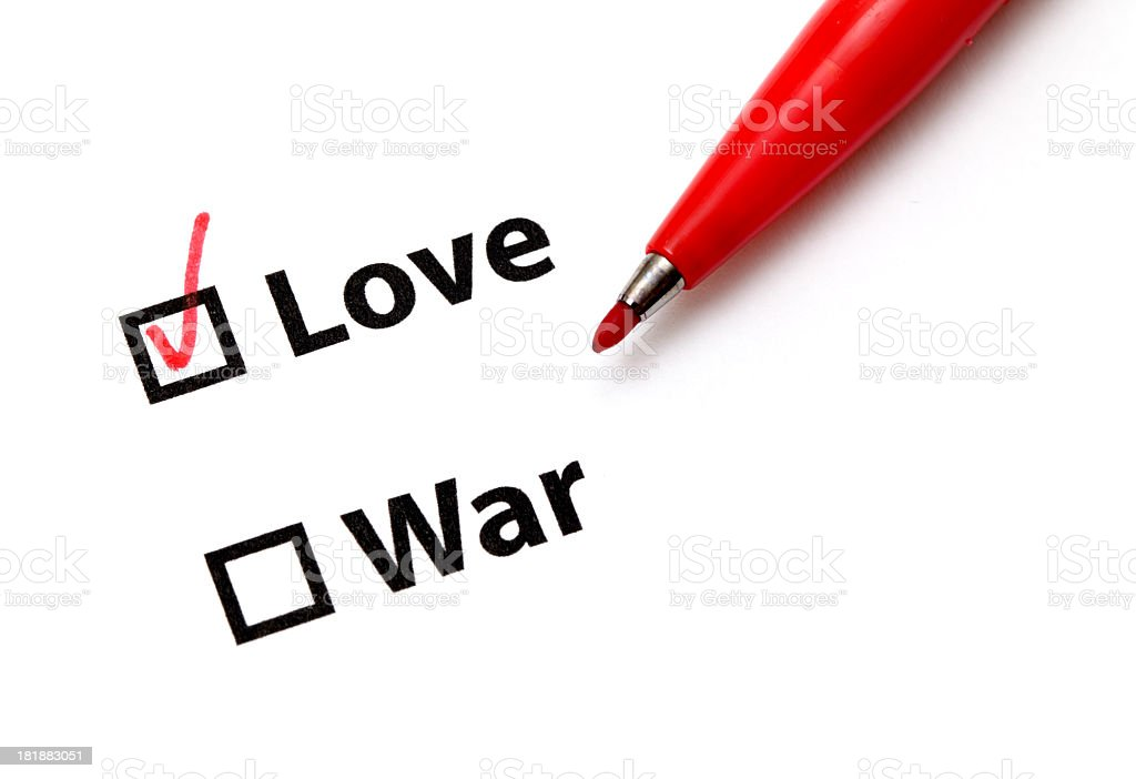 Love or War? royalty-free stock photo