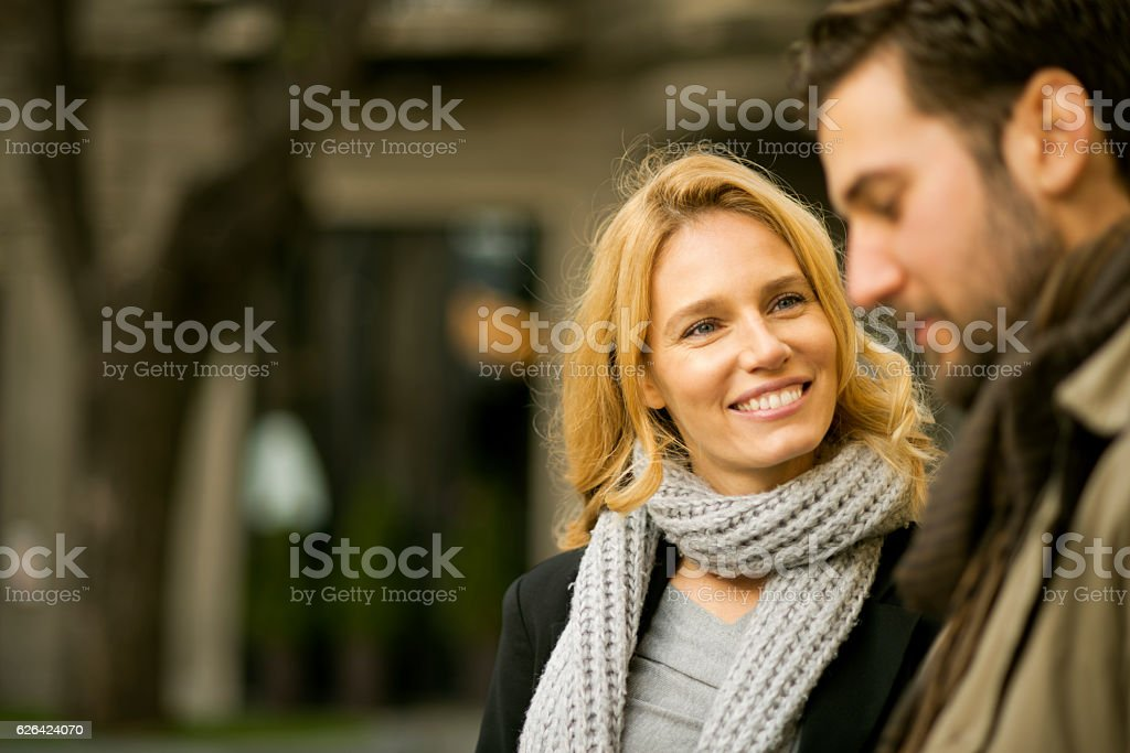 I love our walks. stock photo