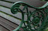 love vintage padlocks hanged on a bench