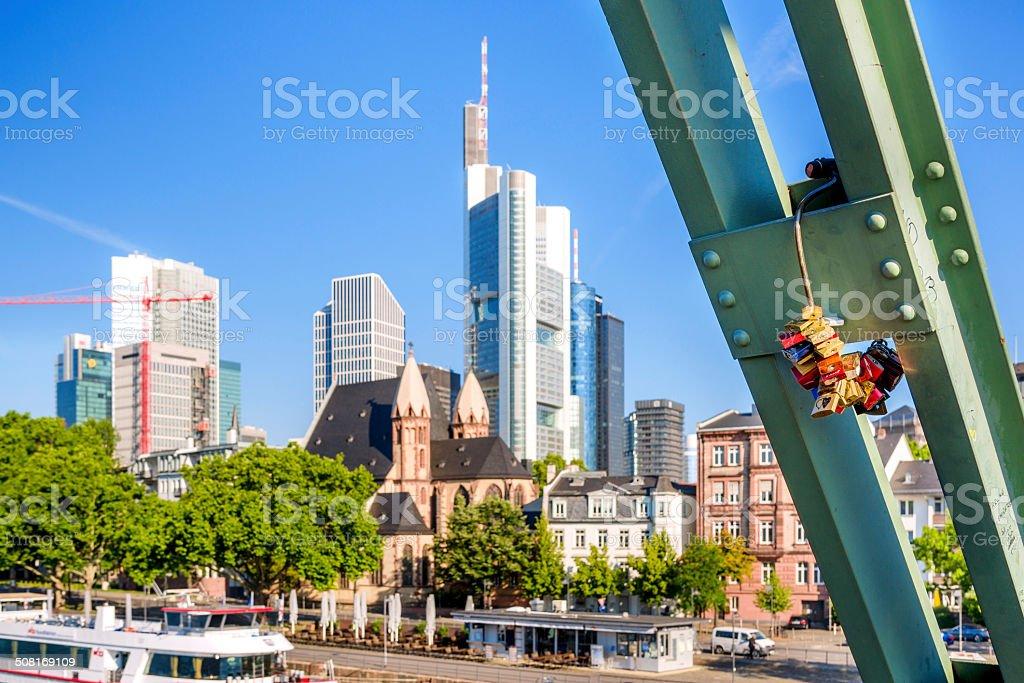 Love Padlocks in Frankfurt am Main, Germany royalty-free stock photo