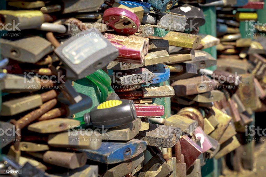 Love padlocks royalty-free stock photo