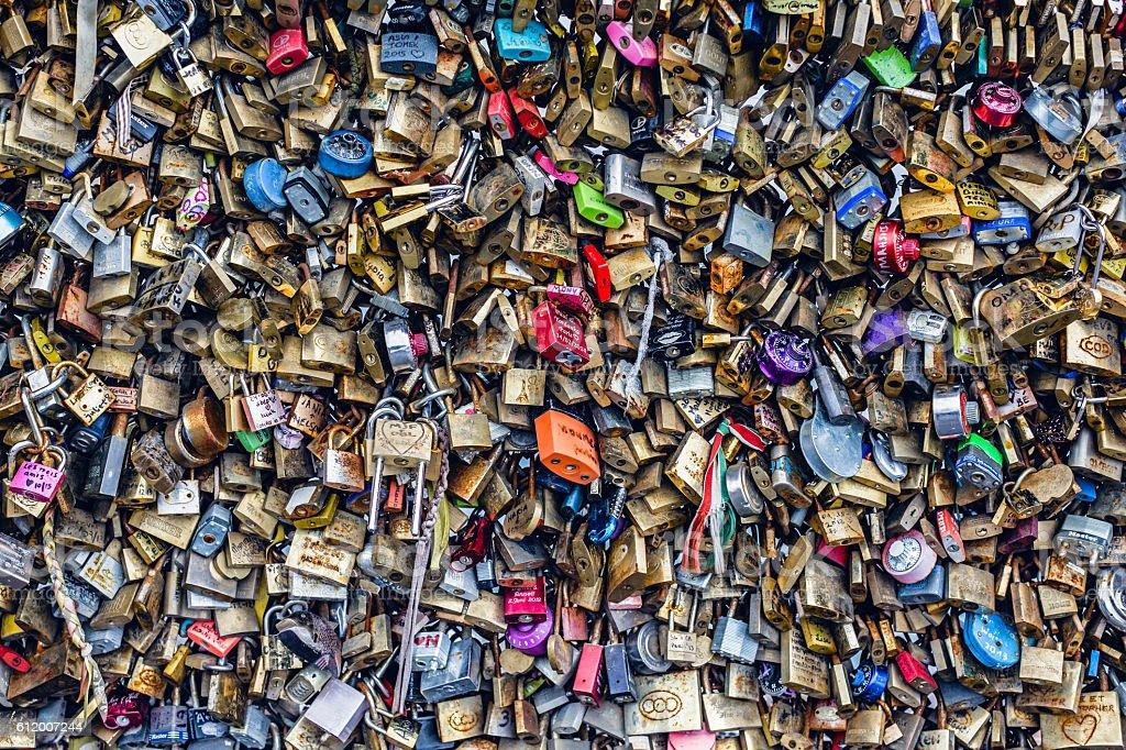 Love padlocks stock photo