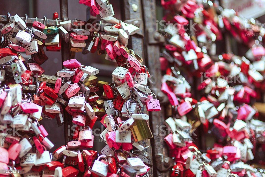 Love Padlocks. Verona, Italy stock photo