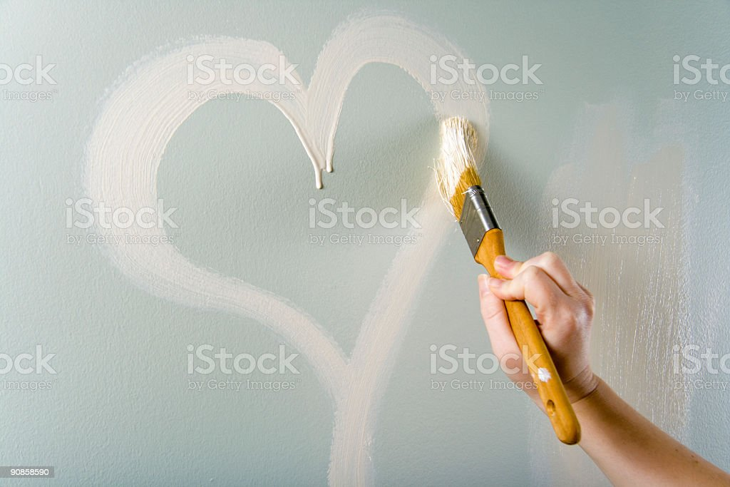 I love painting royalty-free stock photo