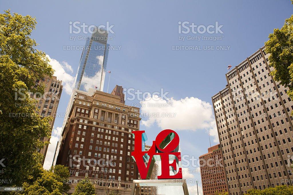 Love Park Philadelphia Cityscape stock photo