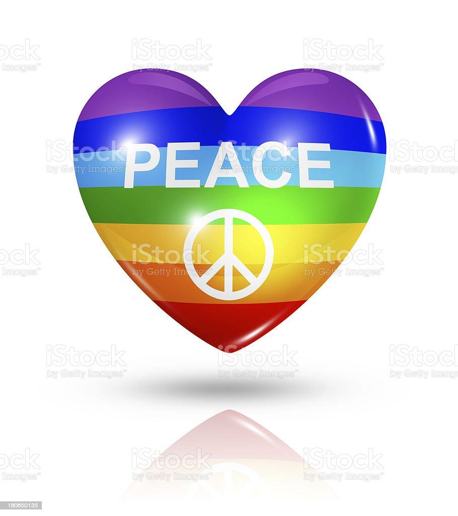 Love peace, heart flag icon royalty-free stock photo