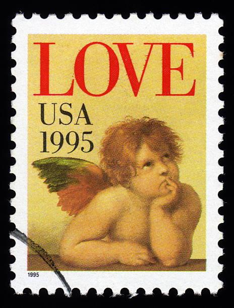USA Love sello postal - foto de stock