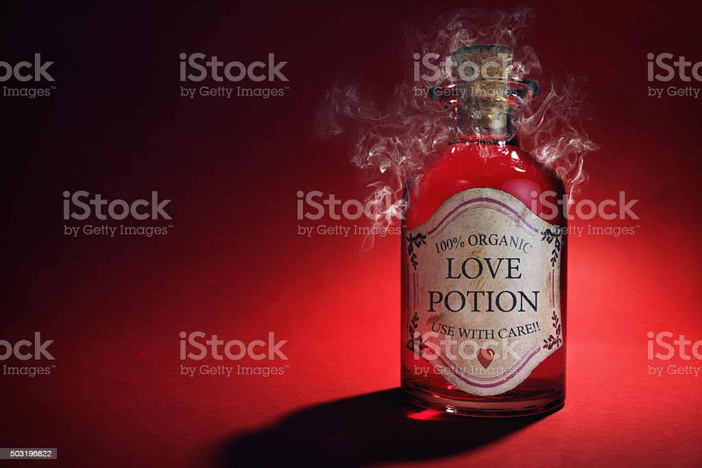 Love potion bottle stock photo