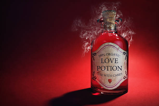 Love potion bottle Love potion bottle, concept for dating, romance and valentine's day love at first sight stock pictures, royalty-free photos & images